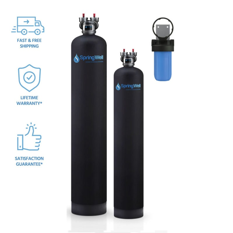 water filter and water softener combo