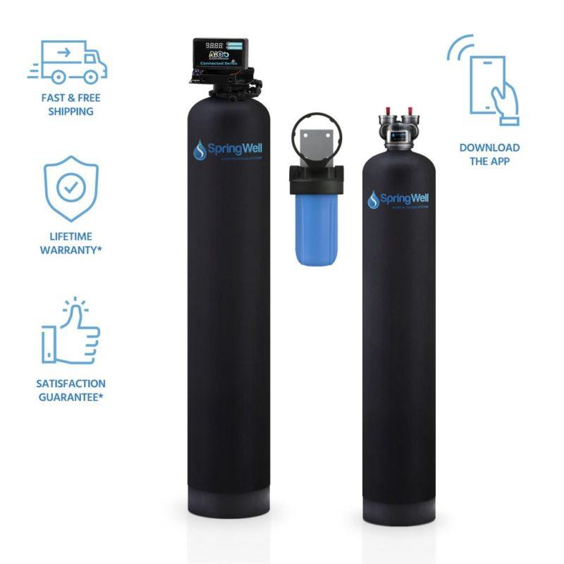 Well Water Filter & Salt Free Softener combo