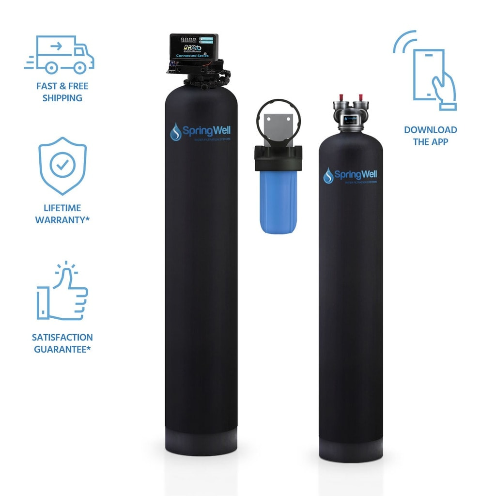 Well Water Filter & Salt Free Softener combo