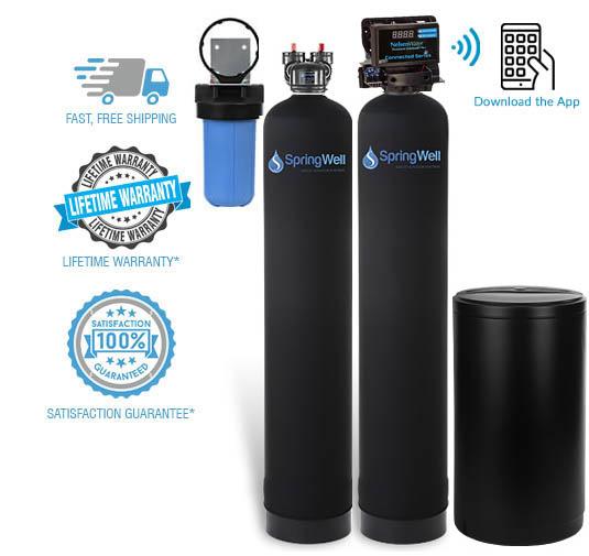 water filter salt based combo