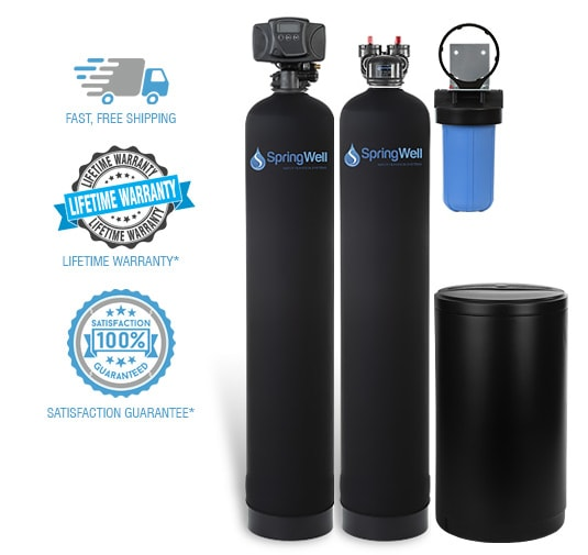 Water Filter and Salt Based Water Softener System - SpringWell Water  Filtration Systems