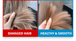 hair comparison with salt based water softener
