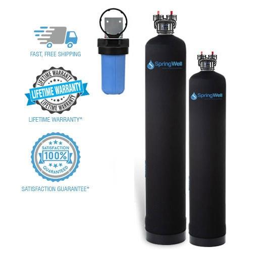 water filter softener combo