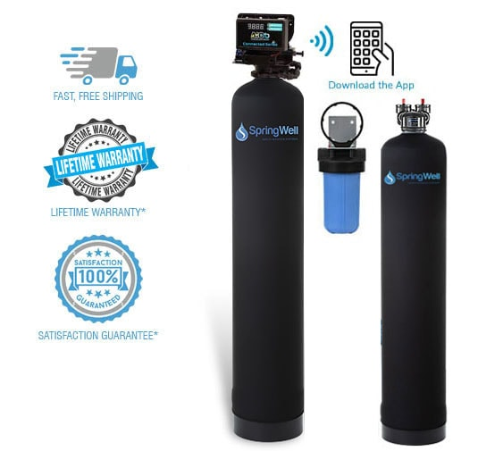 well filter and salt free softener combo