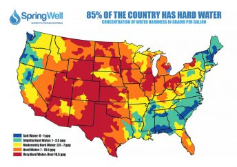 Us hard water map